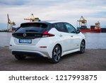 riga  may 2018   nissasn leaf   ...   Shutterstock . vector #1217993875