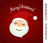 christmas greeting card with... | Shutterstock .eps vector #1218006568