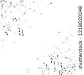 musical notes symbols flying... | Shutterstock .eps vector #1218020248