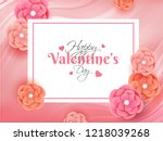 happy valentine day greeting...   Shutterstock .eps vector #1218039268