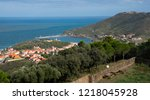 view to vernet les bains  in... | Shutterstock . vector #1218045928