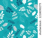 vector blue and green leaf mix... | Shutterstock .eps vector #1218050275