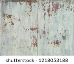 steel wall at old maker in... | Shutterstock . vector #1218053188