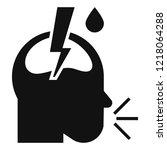 pneumonia headache icon. simple ... | Shutterstock .eps vector #1218064288
