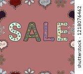 seamless pattern. for sale web... | Shutterstock .eps vector #1218076462