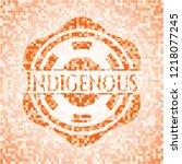 indigenous abstract orange...   Shutterstock .eps vector #1218077245