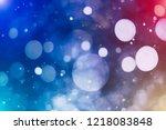 bokeh abstract texture.... | Shutterstock . vector #1218083848