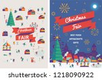 christmas market and holiday... | Shutterstock .eps vector #1218090922