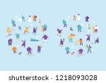winter people characters vector ... | Shutterstock .eps vector #1218093028