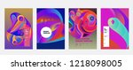 vector abstract 3d colorful... | Shutterstock .eps vector #1218098005