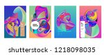 vector abstract 3d colorful... | Shutterstock .eps vector #1218098035