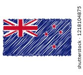 hand drawn national flag of new ... | Shutterstock .eps vector #1218104875