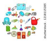 ambry icons set. cartoon set of ... | Shutterstock .eps vector #1218115285