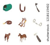 harness icons set. isometric... | Shutterstock .eps vector #1218115402