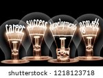 photo of light bulb with... | Shutterstock . vector #1218123718