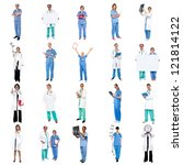 collage of medical specialists... | Shutterstock . vector #121814122