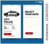 sedan cop police car vector...