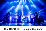 october 29 2018. concert of...   Shutterstock . vector #1218163108
