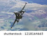 military jet fighter flying... | Shutterstock . vector #1218164665