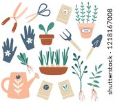 vector hand drawn illustrations ... | Shutterstock .eps vector #1218167008