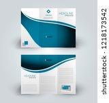 brochure template. business... | Shutterstock .eps vector #1218173542