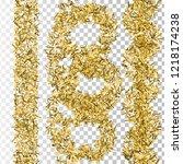 christmas artificial tinsel... | Shutterstock .eps vector #1218174238