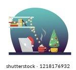 vector flat style illustration... | Shutterstock .eps vector #1218176932