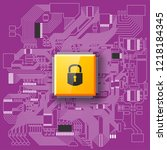 gdpr general data protection... | Shutterstock .eps vector #1218184345
