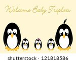 welcome baby penguins   triples ... | Shutterstock . vector #121818586