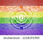 calorie lgbt colors emblem  | Shutterstock .eps vector #1218191905