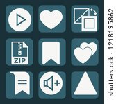 contains such icons as bookmark ...   Shutterstock .eps vector #1218195862