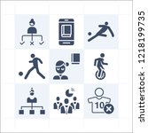 simple set of 9 icons related... | Shutterstock .eps vector #1218199735