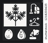 set of 6 single filled icons... | Shutterstock .eps vector #1218203635