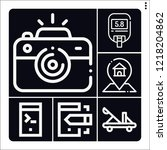 set of 6 device outline icons...