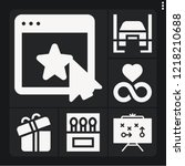 set of 6 concept filled icons... | Shutterstock .eps vector #1218210688