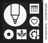 set of 6 collection filled... | Shutterstock .eps vector #1218220168