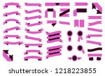 set of beautiful colorful pink... | Shutterstock . vector #1218223855