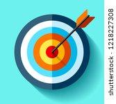 volume target icon in flat... | Shutterstock .eps vector #1218227308
