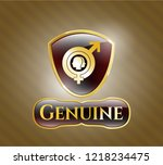 gold shiny emblem with gender... | Shutterstock .eps vector #1218234475