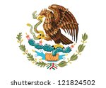 coat of arms of mexico vector...