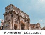 arch of constantine or arco di... | Shutterstock . vector #1218266818