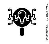 vector icon for intelligence... | Shutterstock .eps vector #1218267952