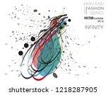 vector illustration of a female ...   Shutterstock .eps vector #1218287905