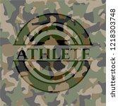 athlete on camo texture   Shutterstock .eps vector #1218303748