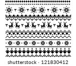 Pixel Winter Pattern With Deer...