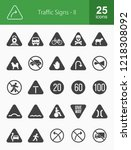 traffic signs glyph icons   Shutterstock .eps vector #1218308092
