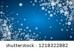 new year snow on blue... | Shutterstock .eps vector #1218322882