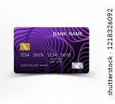 modern credit card template... | Shutterstock .eps vector #1218326092