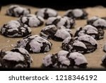 chocolate crinkles  fresh from... | Shutterstock . vector #1218346192