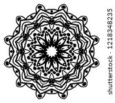 mandala. for design  greeting... | Shutterstock .eps vector #1218348235